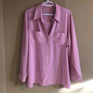 Marks & spencer pink shirt blouse sz 18